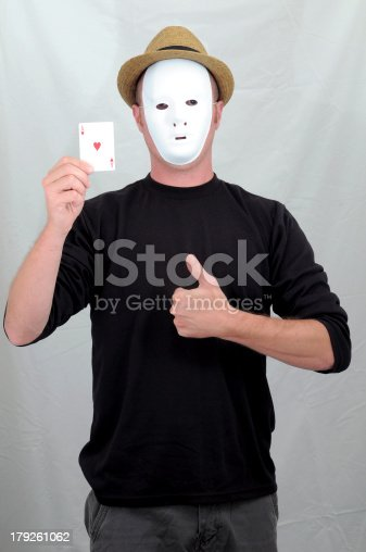 istock Masked Mime 179261062