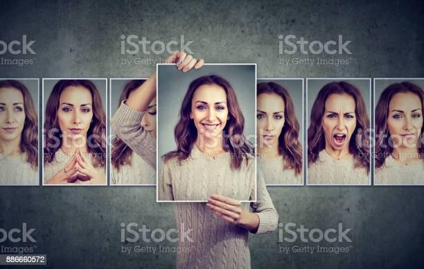 Masked woman expressing different emotions picture id886660572?b=1&k=6&m=886660572&s=612x612&h=w5dmusksqfkuubtivaljenmsuezi z6mk5xlecsbqsu=