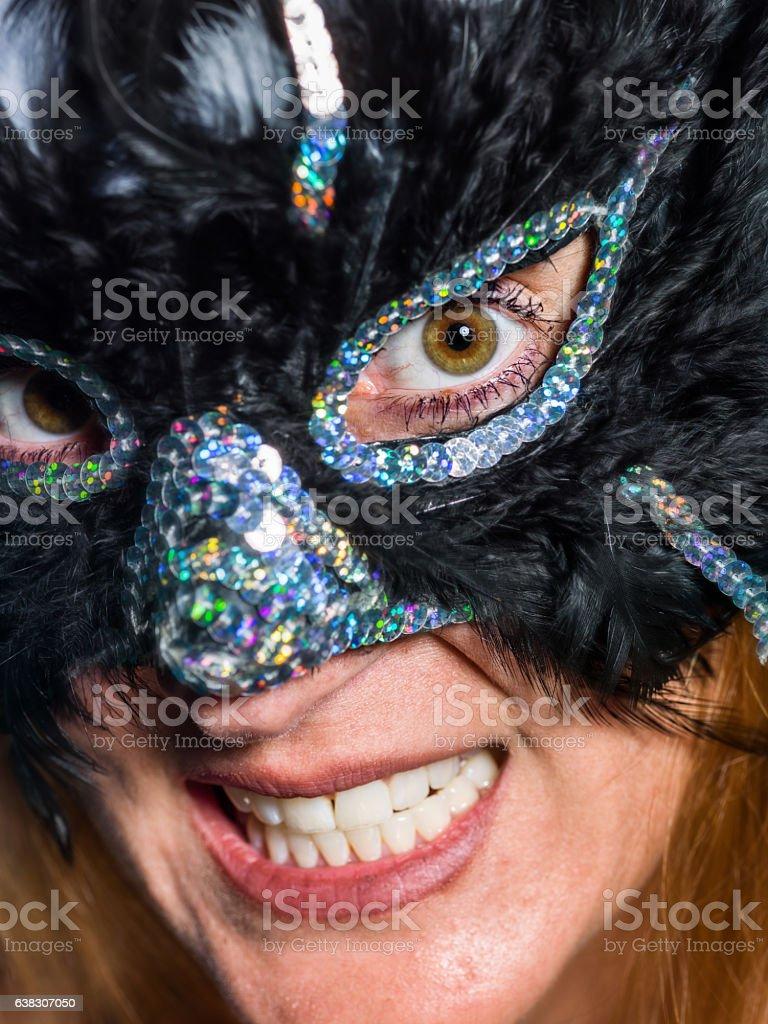 Masked woman stock photo