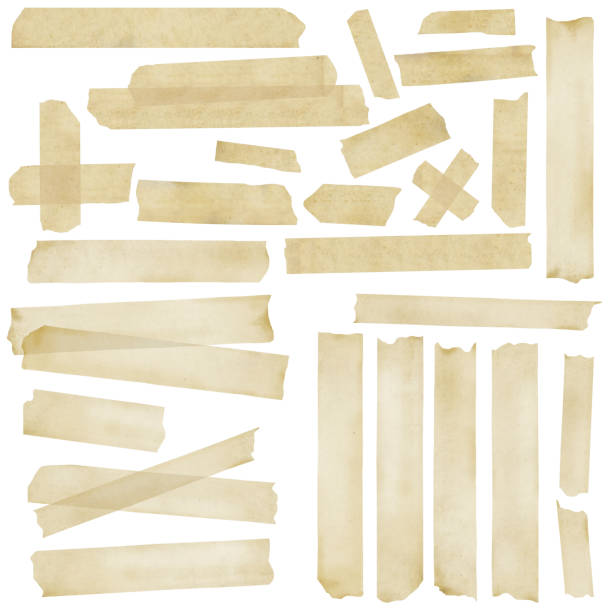 masking tape collection - adhesive tape stock photos and pictures