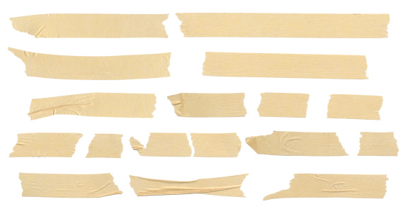 Masking tape isolation on white