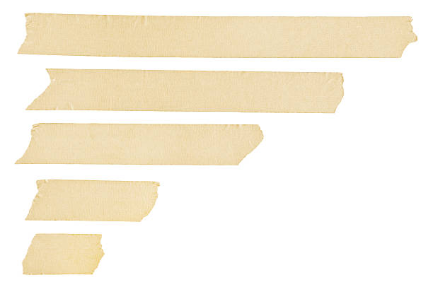 Masking tape streaks stock photo