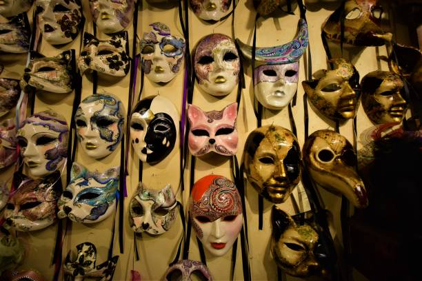 Masks at Carnivale stock photo