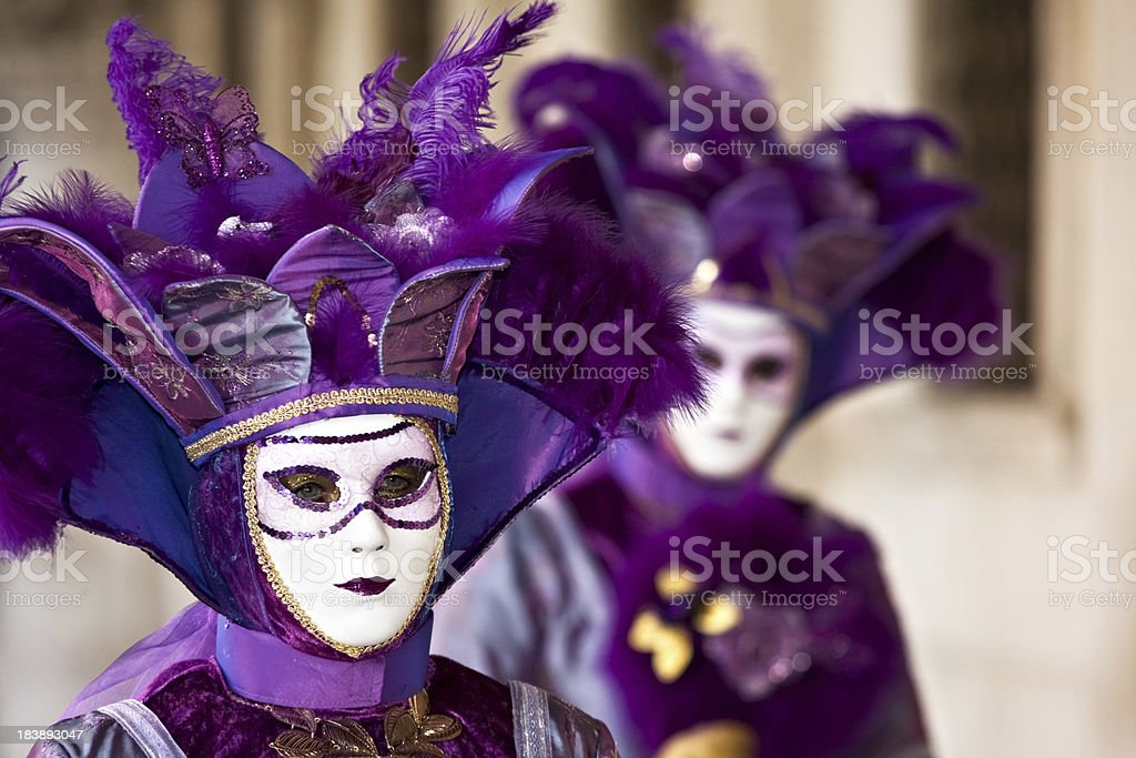 Masks at Venice carnival on mardi gras royalty-free stock photo