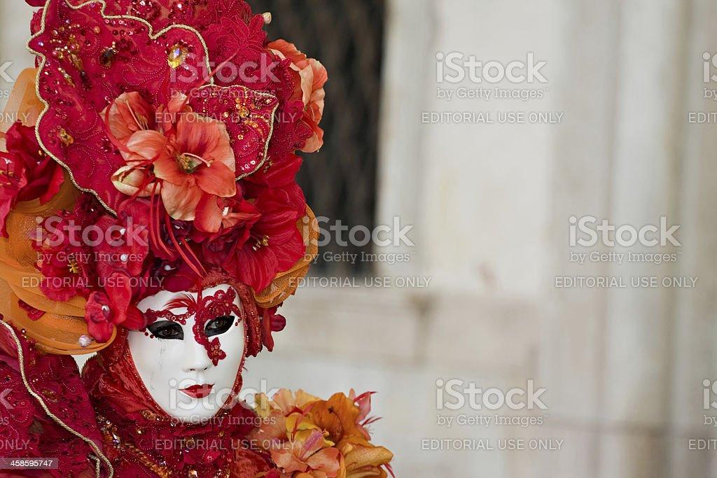 Masks at Venice carnival on mardi gras. royalty-free stock photo