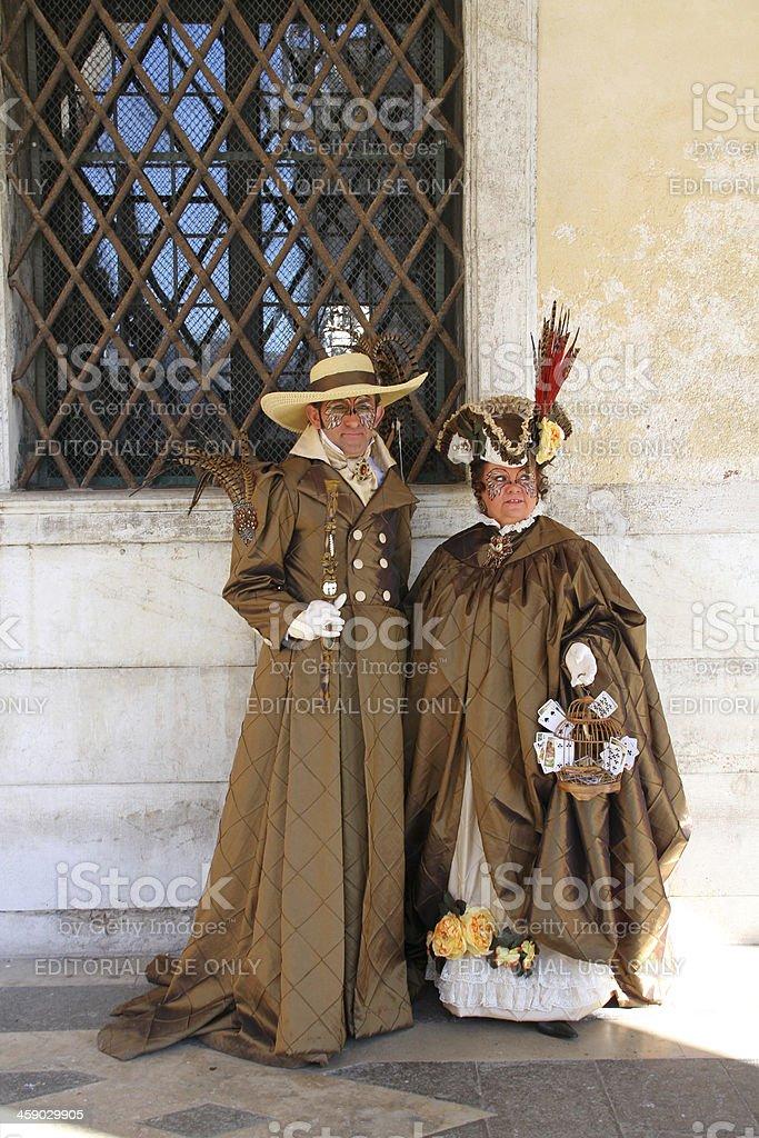 masks couple royalty-free stock photo