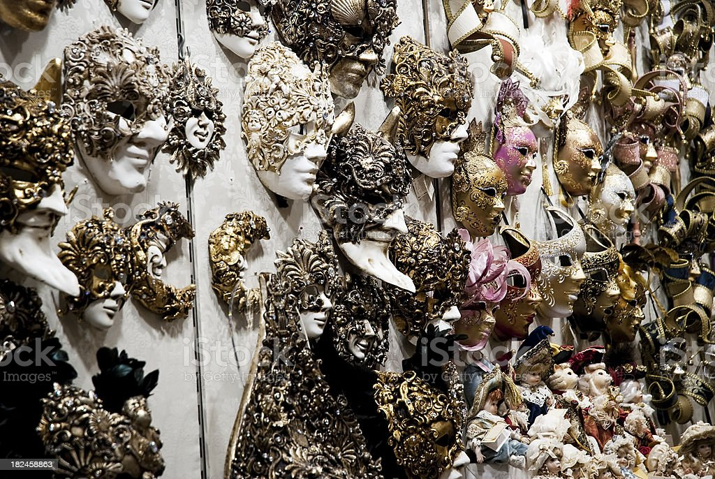 masks for sale,Carnival, Venice royalty-free stock photo