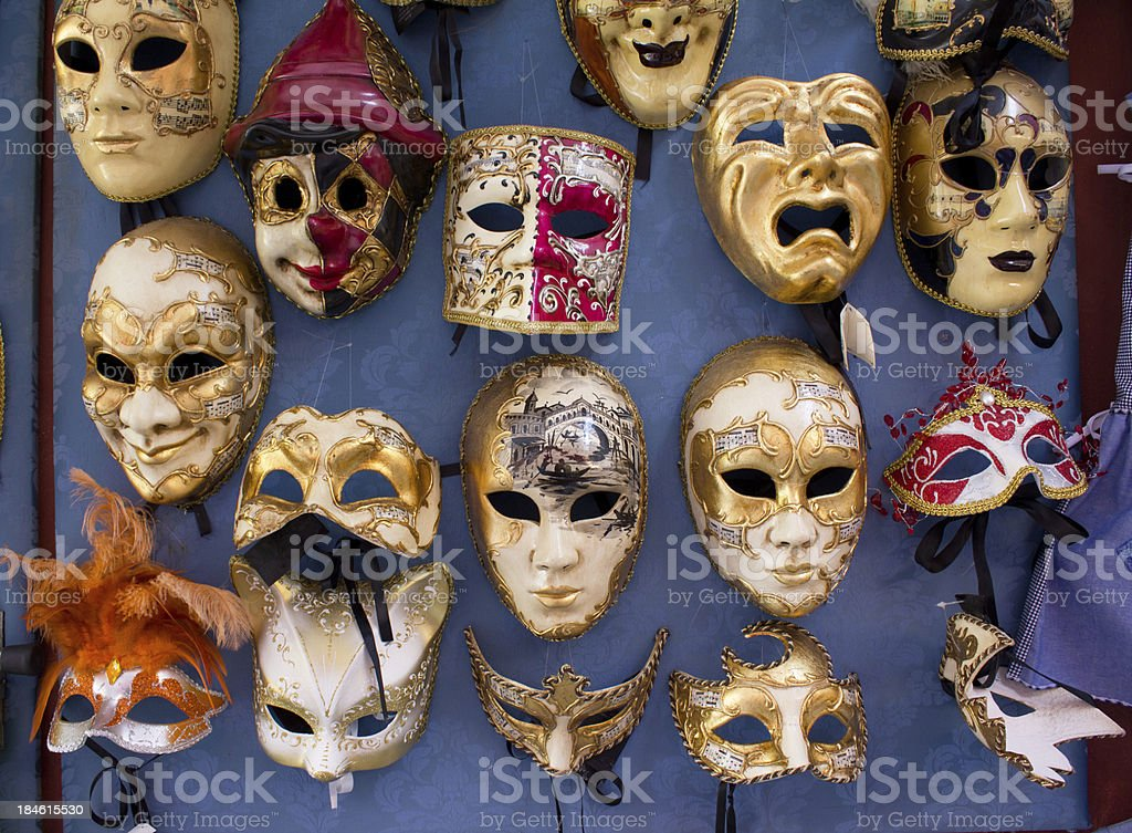 Masks of Carnival royalty-free stock photo