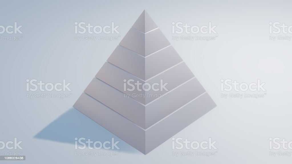 maslow's needs hierarchy 3d illustration stock photo
