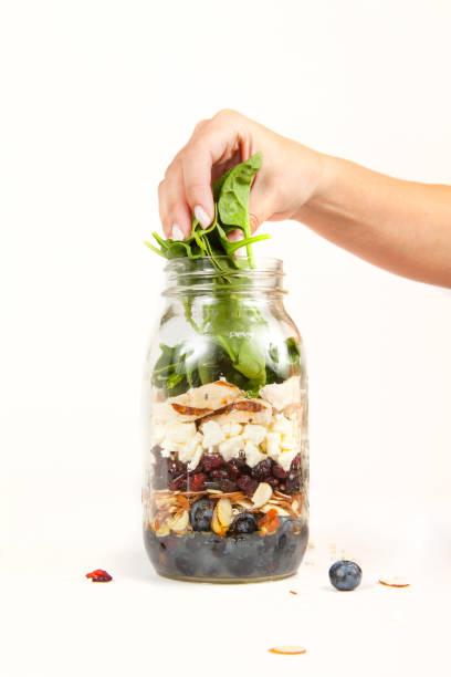 Mason Jar salad stock photo