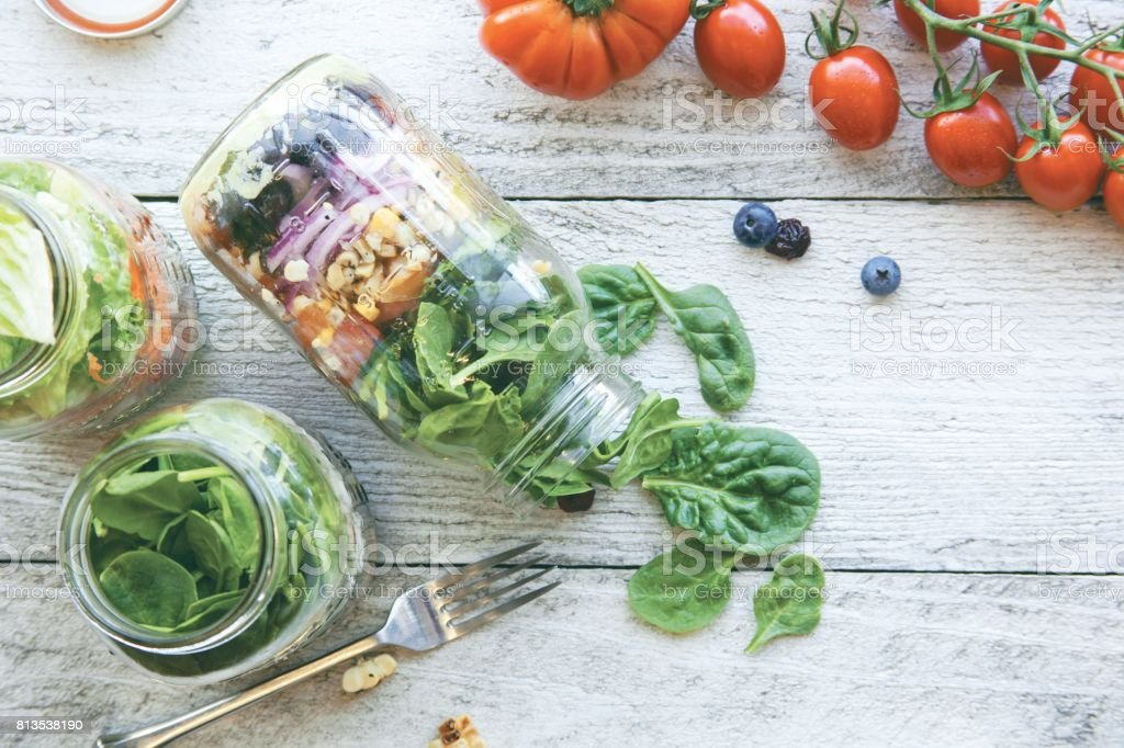 Salade de Mason Jar - Photo
