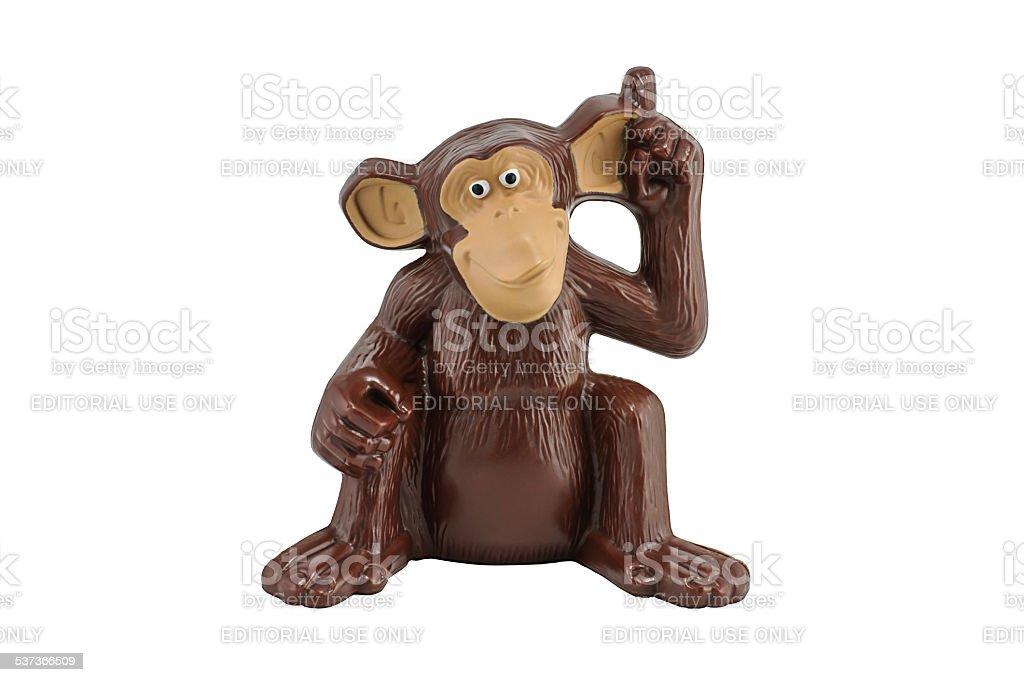 Mason monkey toy character form madaguscar film stock photo