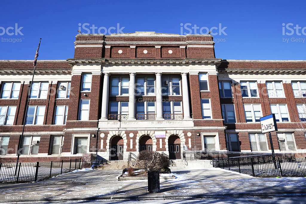 Mason School in North Lawndale, Chicago royalty-free stock photo