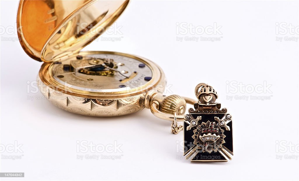 Masonic Crest Watch Fob Stock Photo - Download Image Now