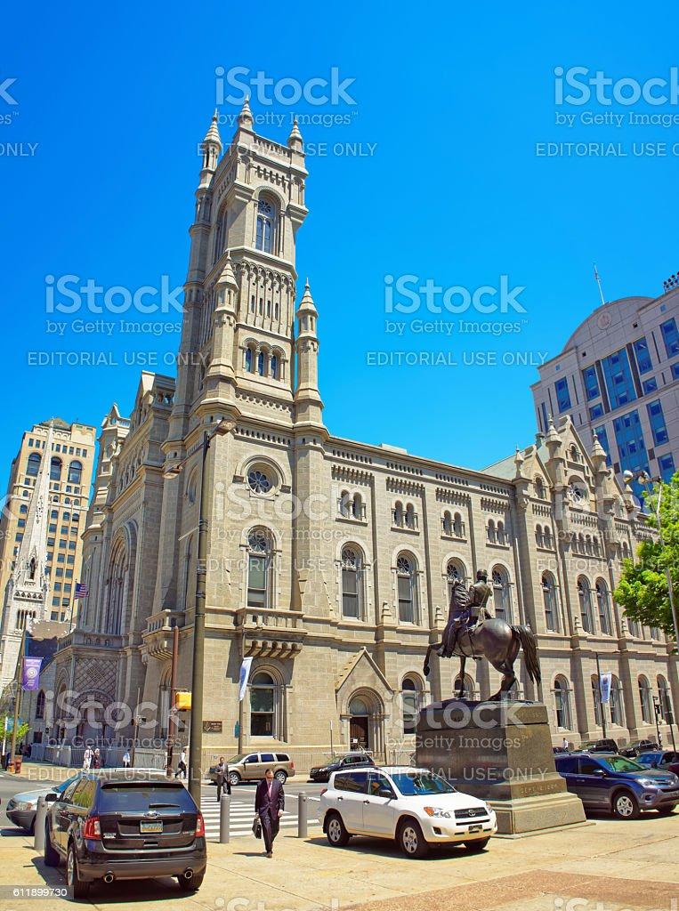 Masonic Temple in Philadelphia PA stock photo