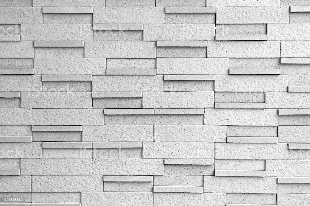 Masonry Block Wall Background Black and White stock photo