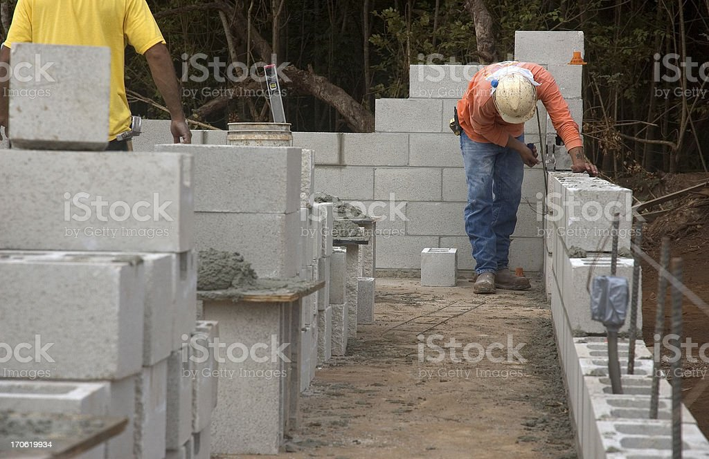 Masonry Construction stock photo