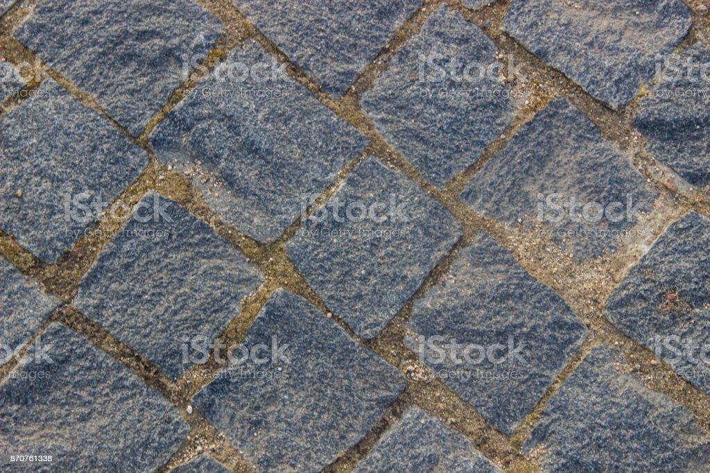 Masonry in gray granite, background, texture stock photo