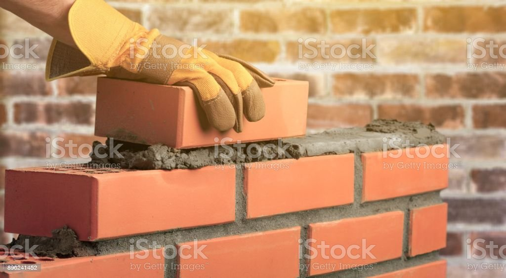 Masonry. stock photo