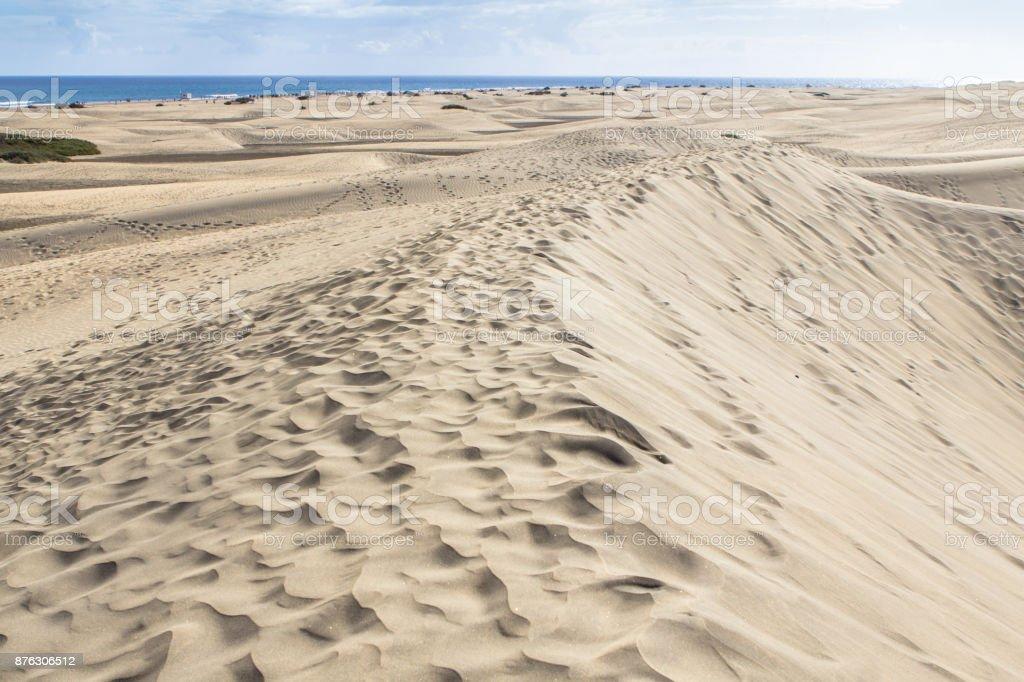 Maspalomas Sand Dune Desert, Gran Canaria stock photo