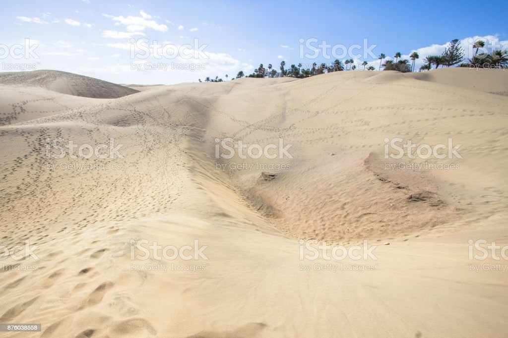 Maspalomas Sand Dune Desert, Grand Canaria stock photo