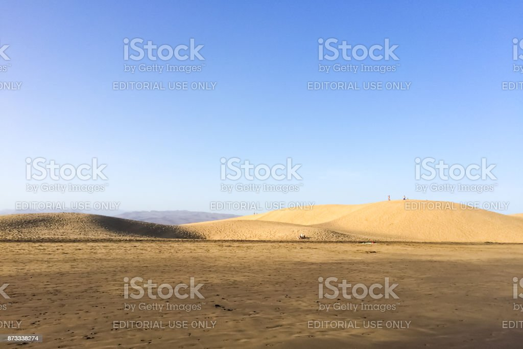 Maspalomas Sand Dunes(DunasdeMaspalomas) onGran Canaria stock photo