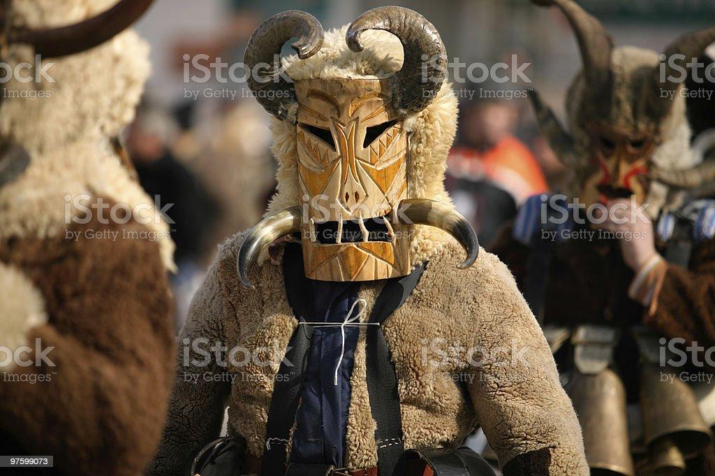 Masquerade, kukeri royaltyfri bildbanksbilder