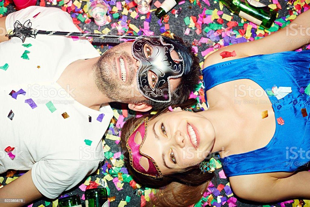 Masquerade party stock photo