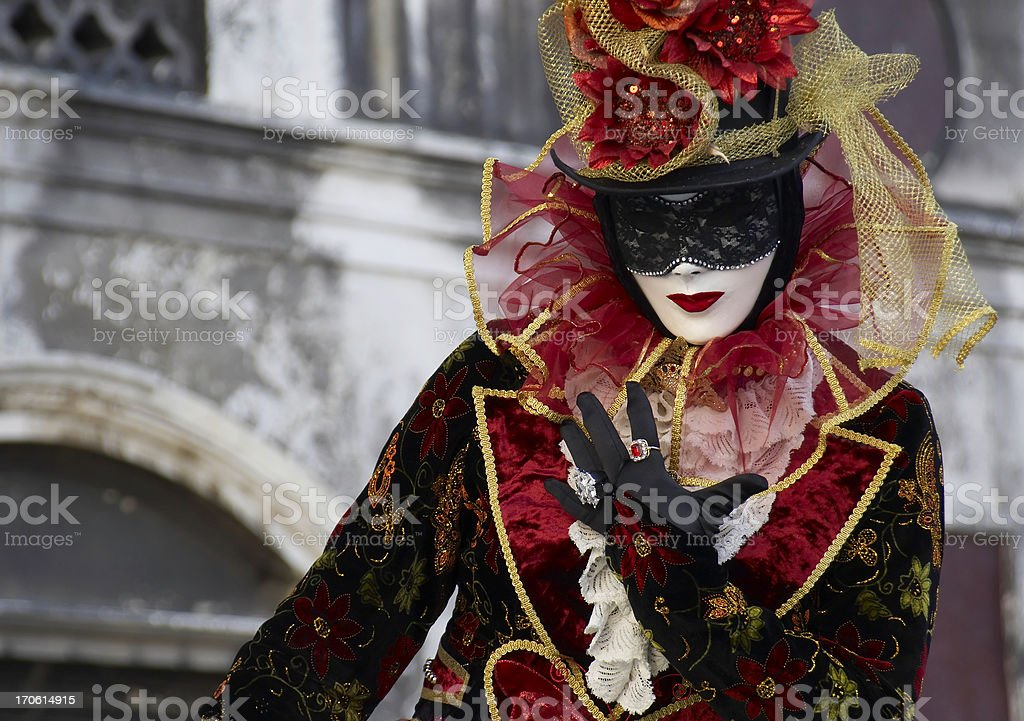 Masquerader at the Venice Cannival royalty-free stock photo