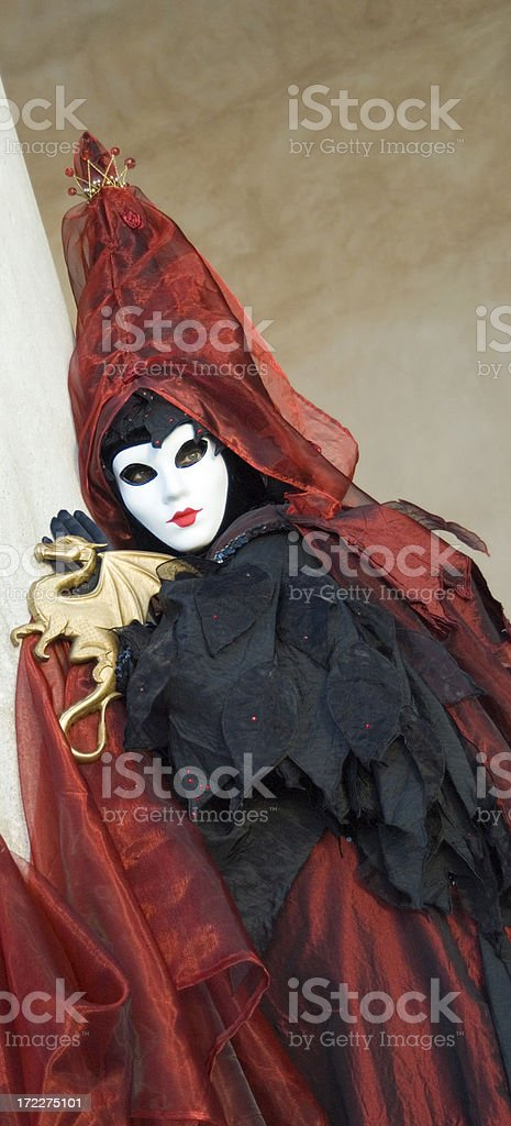 Masquerader in Venice royalty-free stock photo