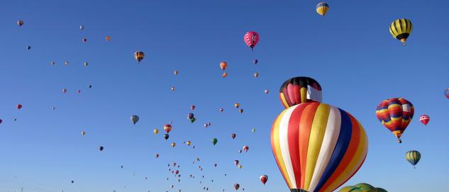 Balloons at the 2005 Albuquerque Balloon Festival during the Mass Ascension