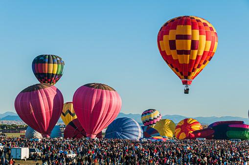 Mass Ascension at the Albuquerque International Balloon Fiesta in Albuquerque, New Mexico.