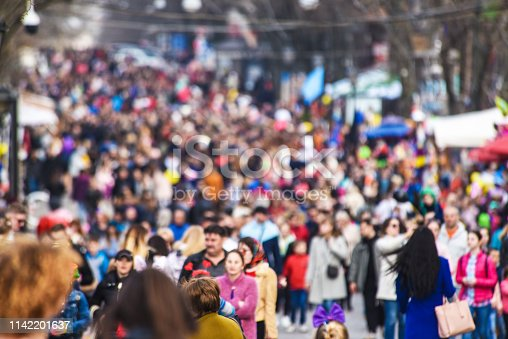 mass events in the city, holiday, lots of people