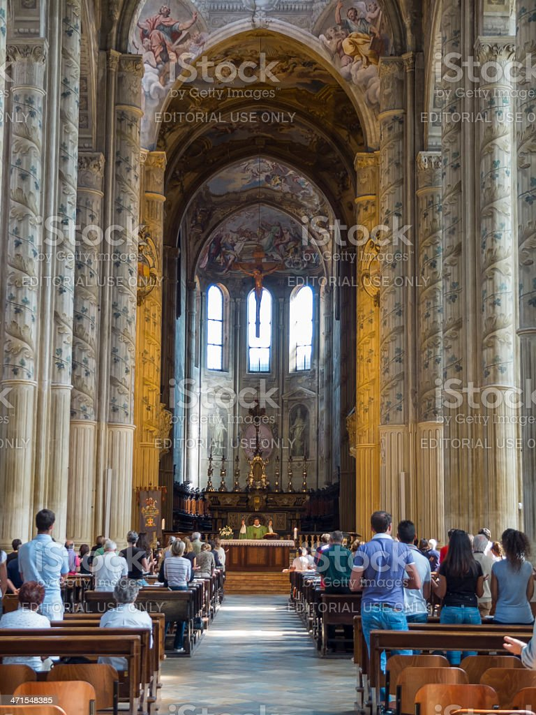 Mass in the church royalty-free stock photo