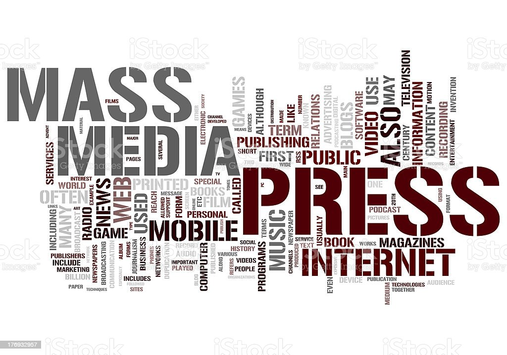 Mass Media collage concepts royalty-free stock photo