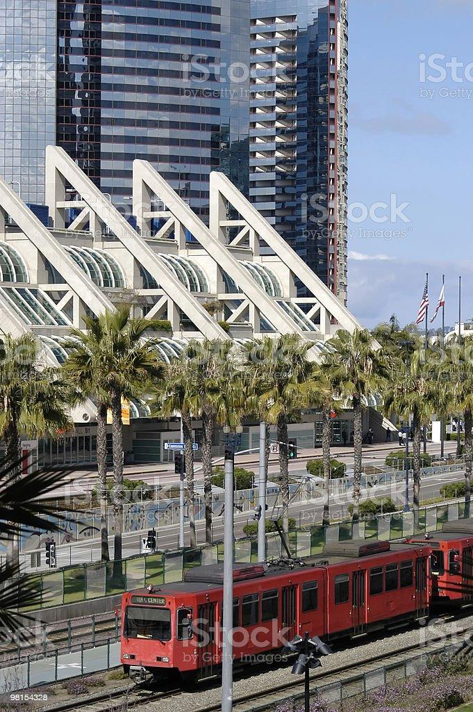 Mass Transit Train San Diego royalty-free stock photo