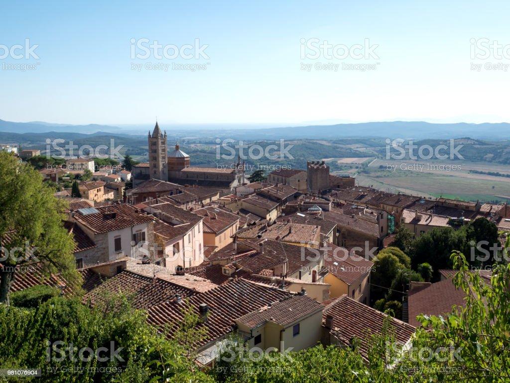 Massa Marittima, beautiful village in Tuscany Maremma, Italy stock photo