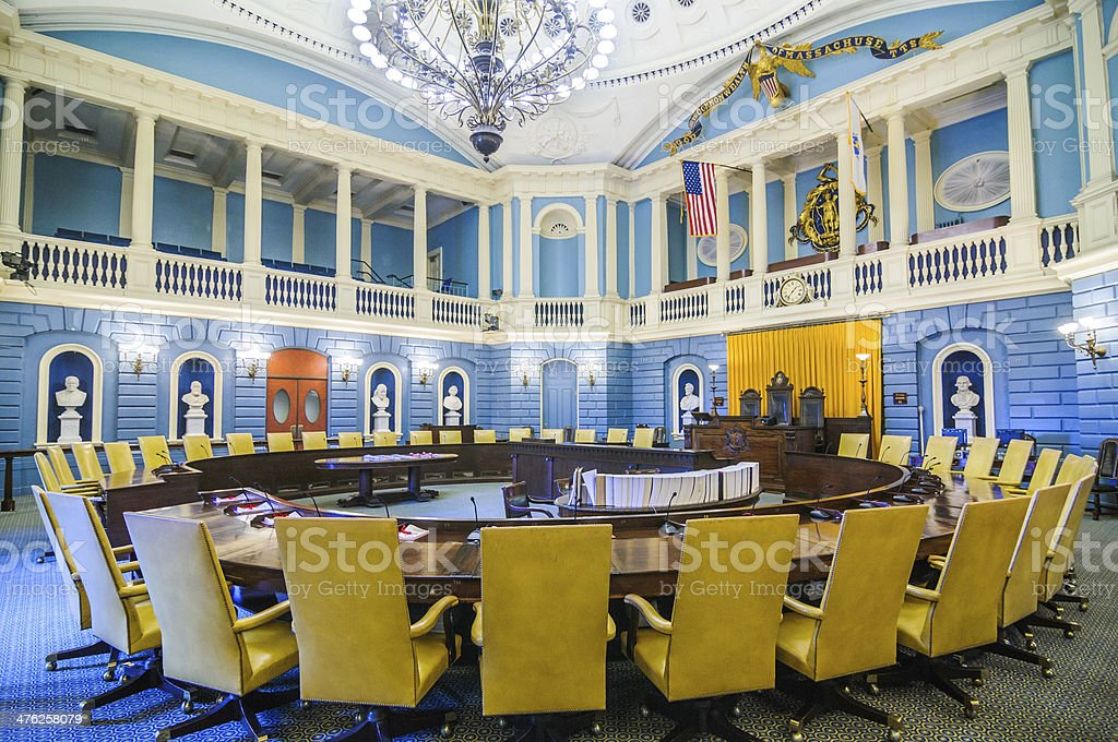 Massachusetts Senate Chamber stock photo