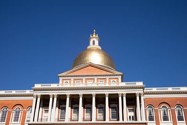 Massachusetts Zustand Capitol Haus in Boston – Foto