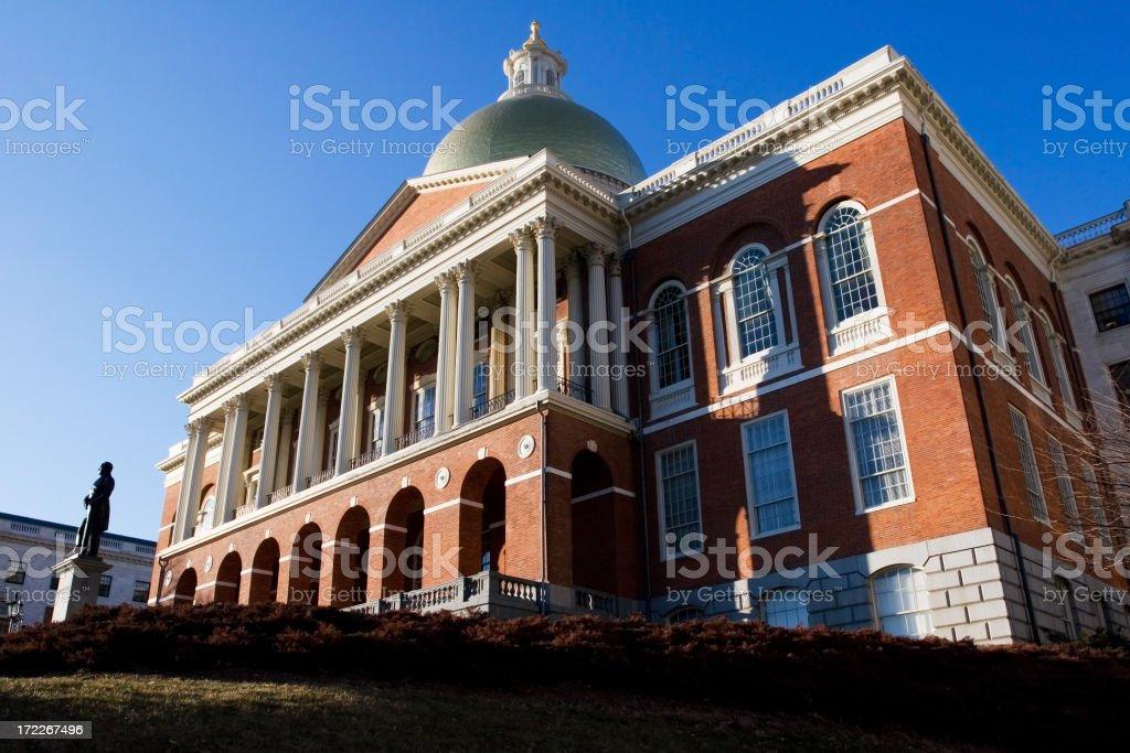 Massachusetts State House and Capital, USA stock photo