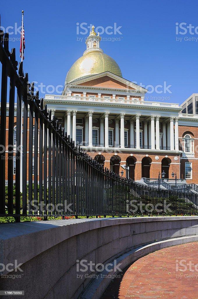Massachusetts State House royalty-free stock photo