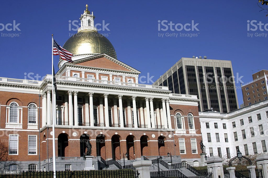 Massachusetts State House stock photo