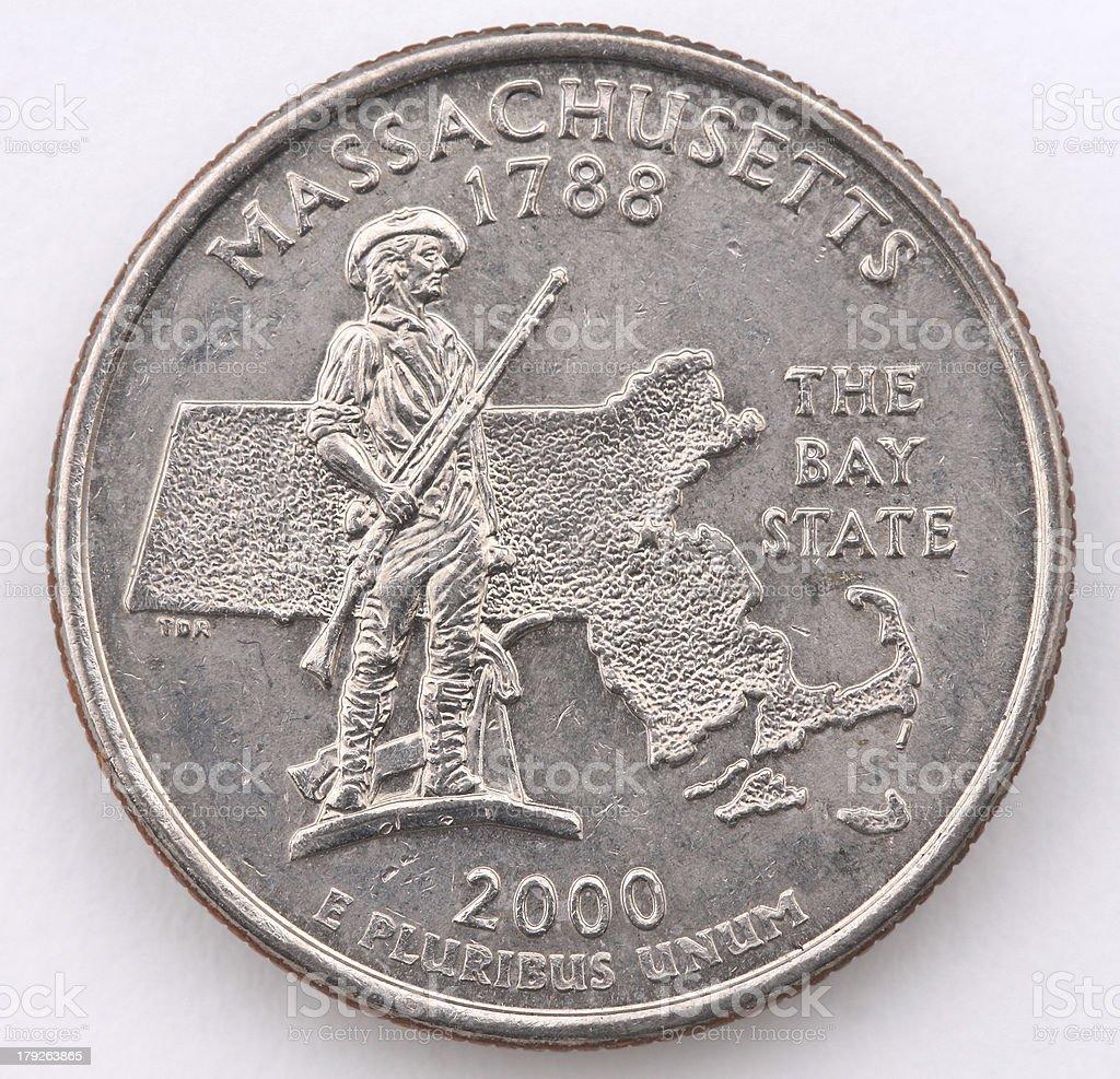 Massachusetts State Quarter royalty-free stock photo