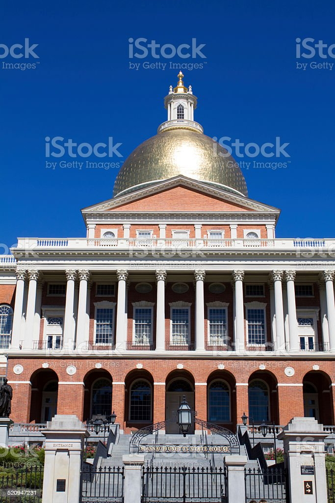 Massachusetts Statehouse stock photo
