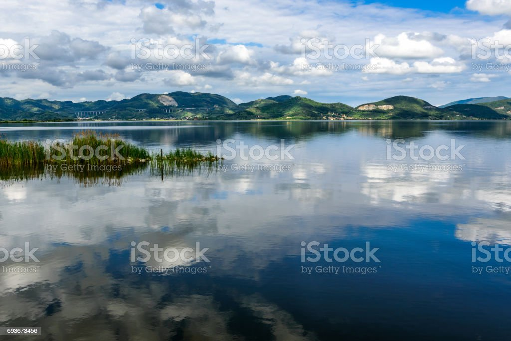 Massaciuccoli lake, Torre del Lago, Tuscany Italy stock photo