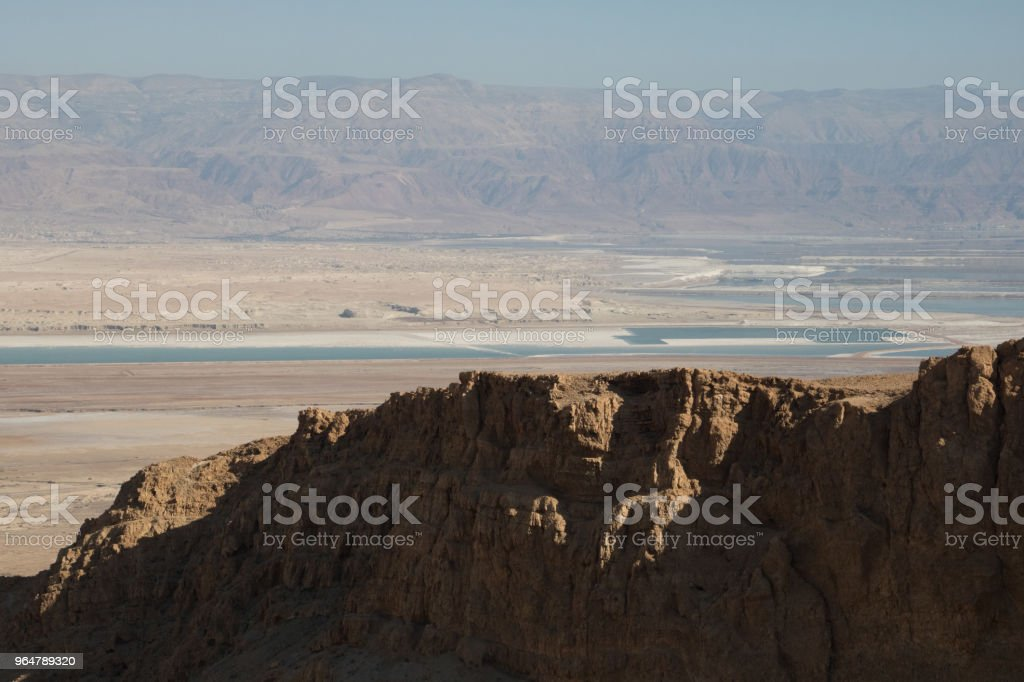 Massada UNESCO world heritage site near the Dead Sea in Israel. royalty-free stock photo