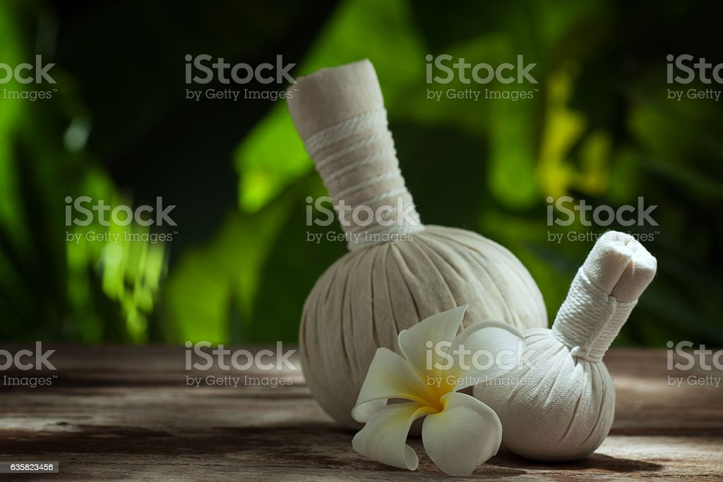 massage bags stock photo