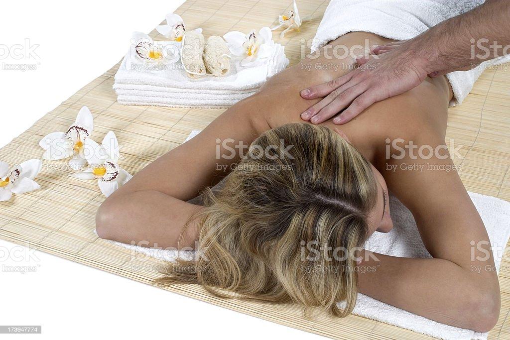 massage, beauty spa concept stock photo