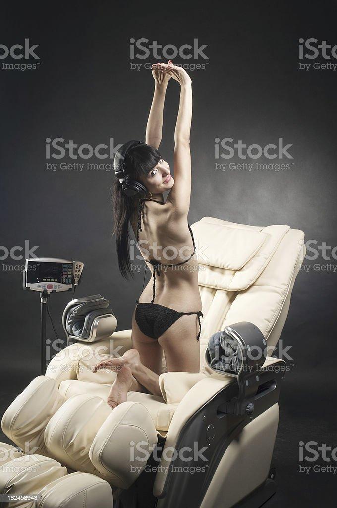 Sillón de masajes foto de stock libre de derechos