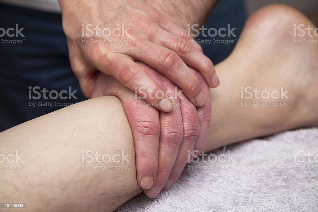 Massage class royalty-free stock photo